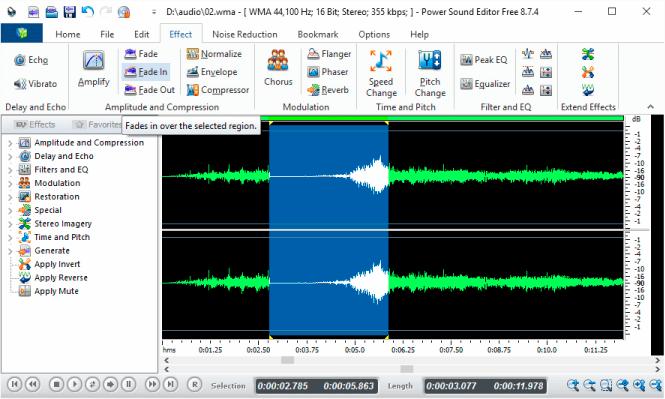 Power Sound Editor Free 사운드 편집 프로그램
