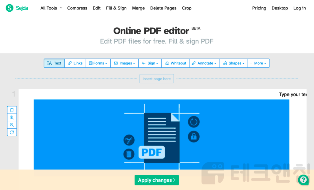 sejda pdf 수정 프로그램