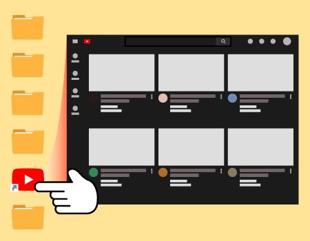 유튜브 바로가기 만드는 방법