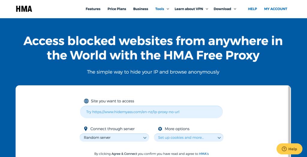 프록시 사이트 HideMyAss