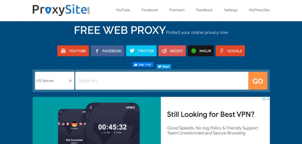 웹 프록시 사이트 ProxySite