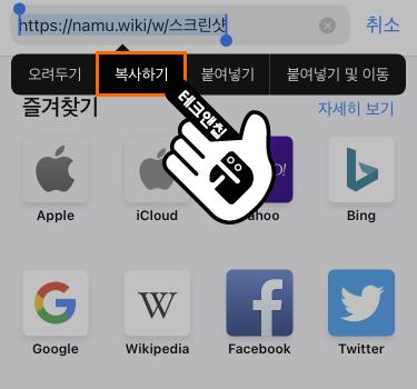 아이폰 웹 페이지 복사