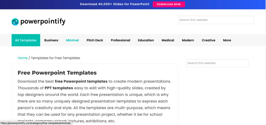 프레젠테이션 테마 사이트 powerpointify