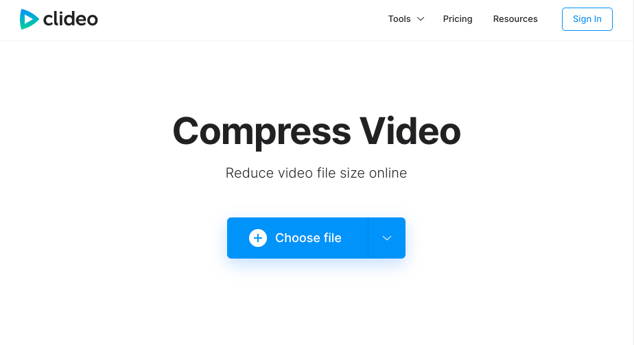clideo 비디오 용량 줄이기 사이트