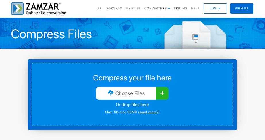 zamzar 파일 용량 줄이기 사이트
